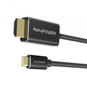 RAVPOWER Type-C to HDMI Cable with Dual 4K 2M