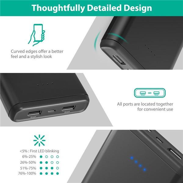 RAVPower Element Series 20000mAh Portable Charger (Black)
