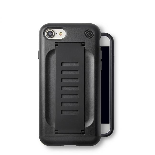 Grip2u BOOST Case with Kickstand for Apple iPhone 8/7 (Charcoal)