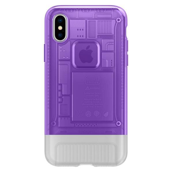 Spigen Classic C1 Case for iPhone X (Grape)