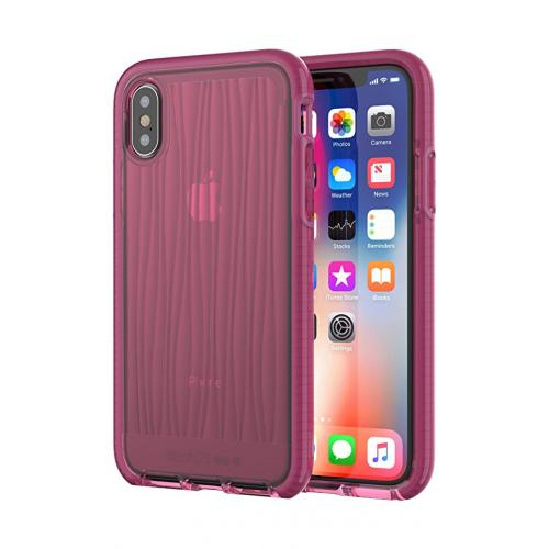 Tech21 Evo Wave Case for Apple iPhone X (Burgundy)