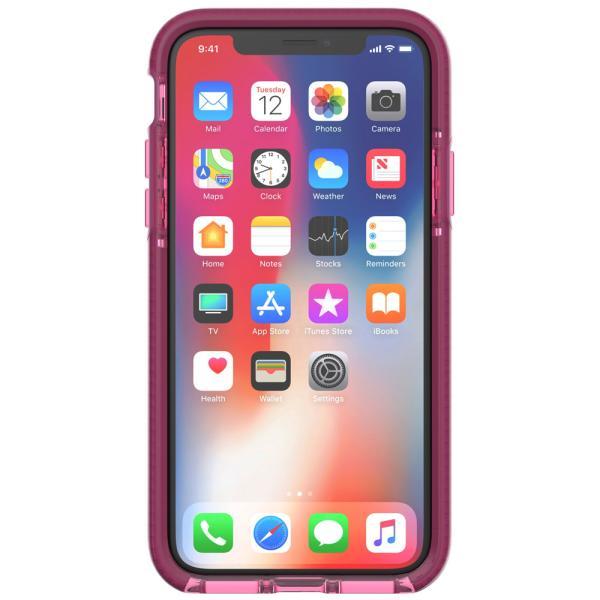 Tech21 Evo Wave Case for Apple iPhone X (Burgundy)