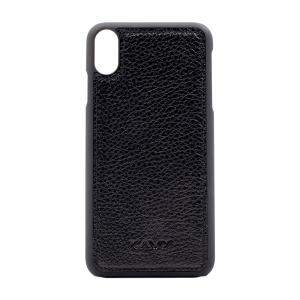 Kavy Genuine Leather Case for iPhone Xs Max (Black)