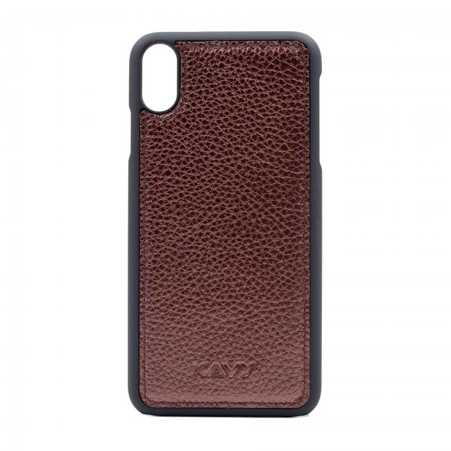 Kavy Genuine Leather Case for iPhone Xs Max (Brown)