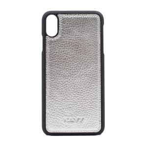 Kavy Genuine Leather Case for iPhone Xs Max (Silver)