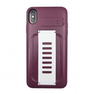Grip2ü BOOST with Kickstand for iPhone Xs Max (Qatar Maroon)