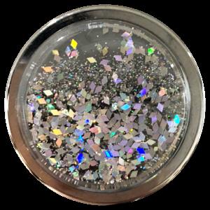 Nuckees Midnight Diamond Liquid Glitter (Silver)
