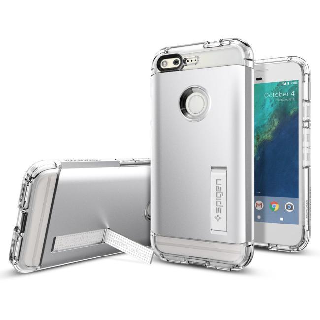 Spigen Google Pixel Case Tough Armor Satin Silver