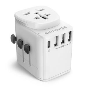 RavPower Diplomat 4-Port Travel Charger 30 watts PD QC3.0 (White)