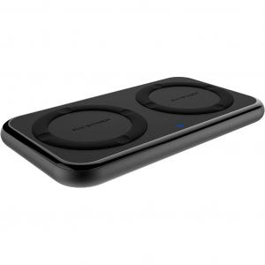 Ravpower 10W Dual coils Charging Pad UK Wall charger (Black)