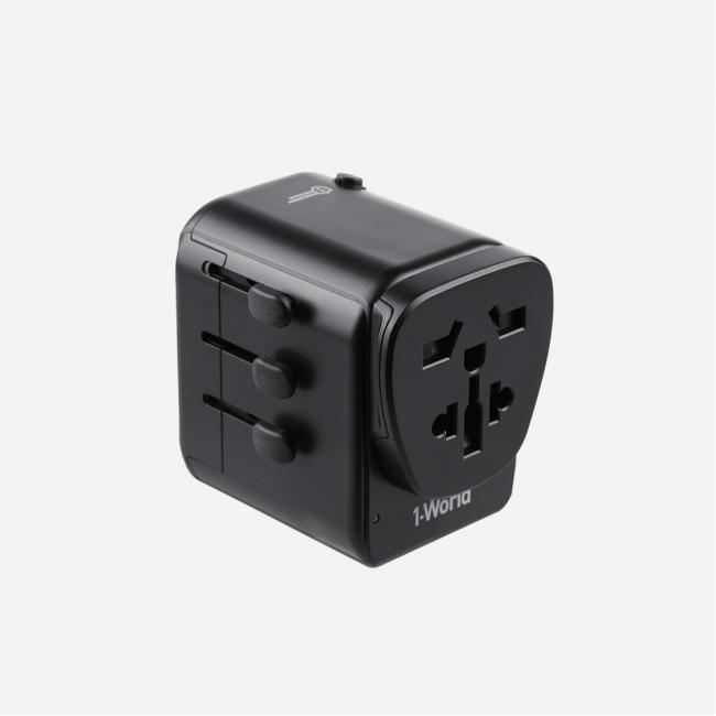 MOMAX 1-World Travel Adapter + Lightning to Type-c Cable (30cm)