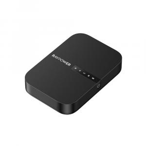 RAVPower Filehub Wireless Travel Router and External Battery 6700mAh iSmart (Black)