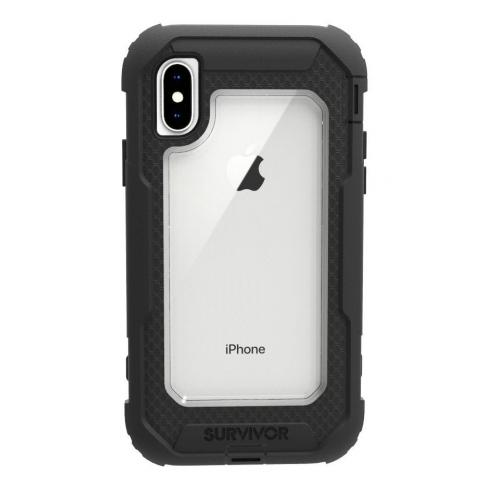 Griffin Survivor All-Terrain for iPhone X (Black/Clear)