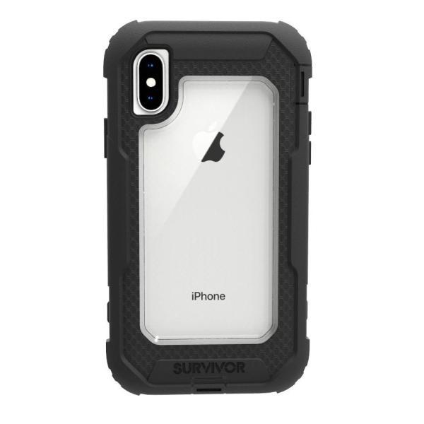 Griffin Survivor All-Terrain for iPhone X (Black/Clear)