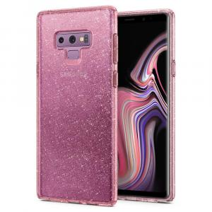 Spigen Galaxy Note 9 Case Liquid Crystal Glitter (Rose Quartz)