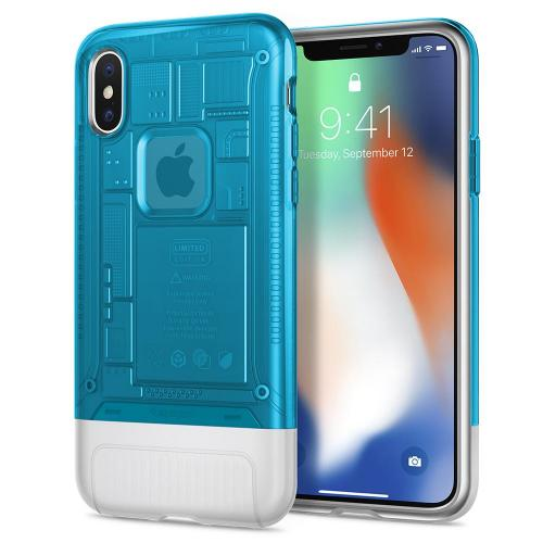 Spigen Classic C1 Case for iPhone X (Blueberry)