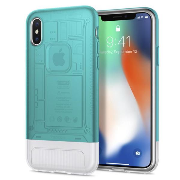 Spigen Classic C1 Case for iPhone X (Bondi Blue)
