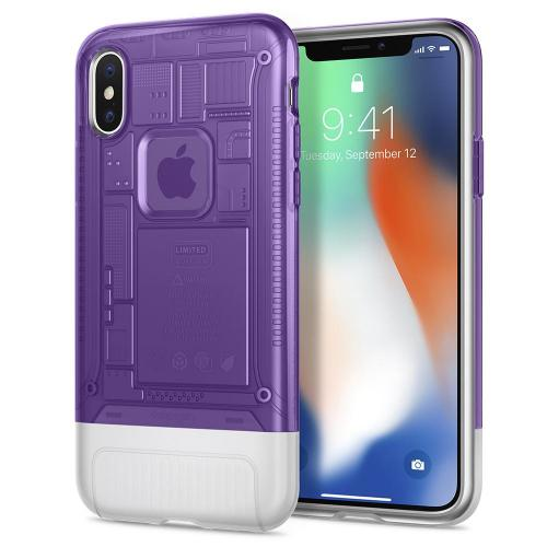 Spigen Classic C1 Case for iPhone X (Grape)