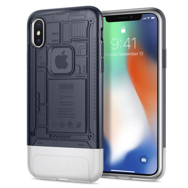 Spigen Classic C1 Case for iPhone X (Graphite)