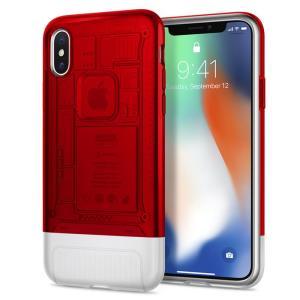 Spigen Classic C1 Case for iPhone X (Ruby)