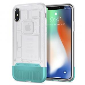 Spigen Classic C1 Case for iPhone X (Snow)