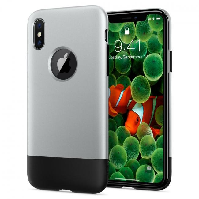 Spigen Classic One Case for iPhone X (silver)