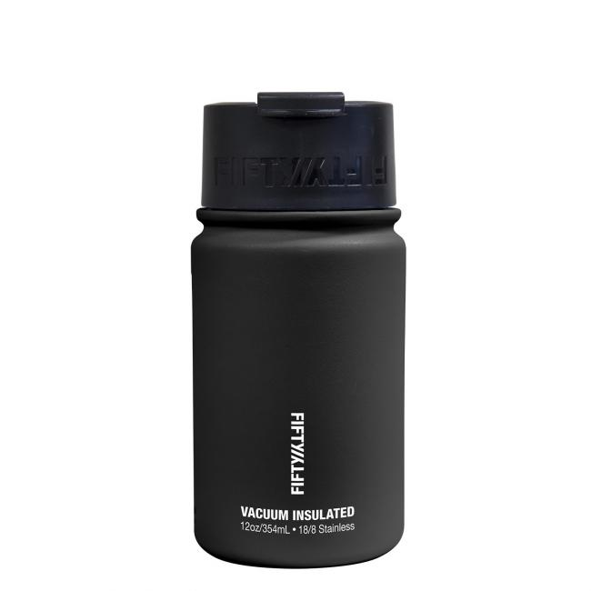 Fifty Fifty Vacuum Insulated Bottle 354ML Black
