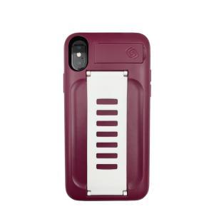 Grip2ü BOOST with Kickstand for Apple iPhone Xs/X (Qatar Maroon)