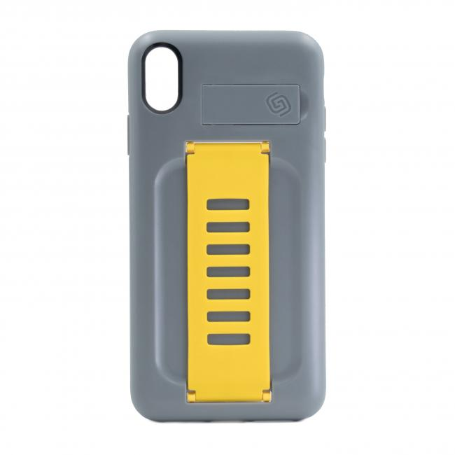 Grip2u BOOST Case with Kickstand for Apple iPhone Xs Max (Graphite Yellow)