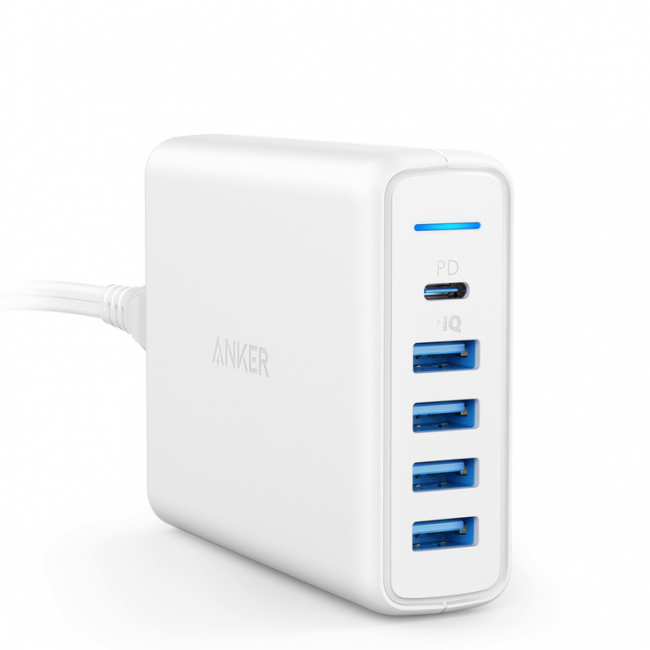 Anker PowerPort Speed 5 with PD (White)