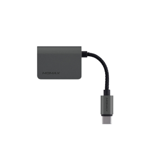 Momax One Link Type-C to Audio Adapter (Gray)