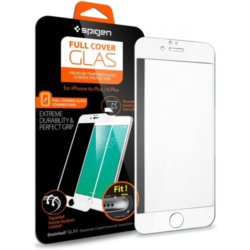 Spigen Full Cover Glass for iPhone 6s Plus White Frame