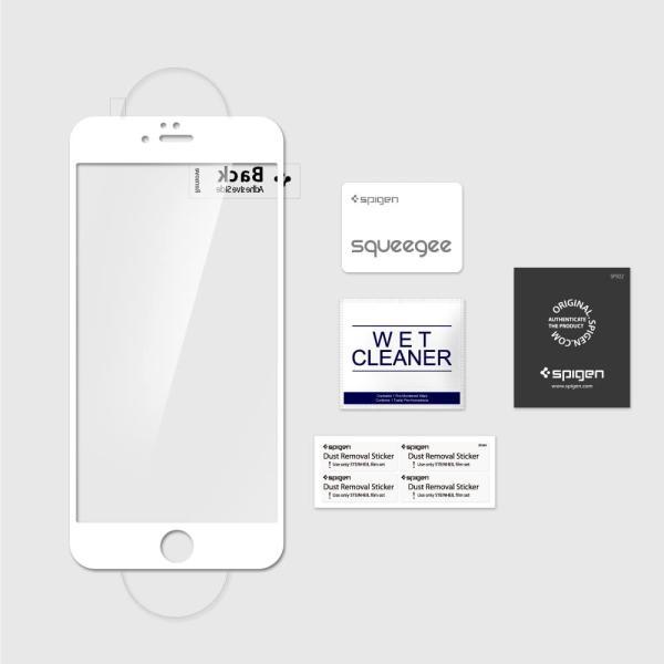 Spigen Full Cover Glass for iPhone 6s Plus White Frame