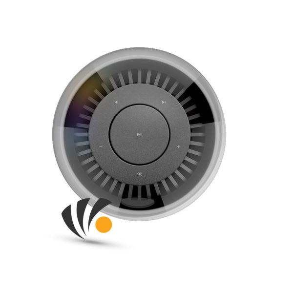 SPACE True wireless 360 speaker with colored ambient lamp Gray