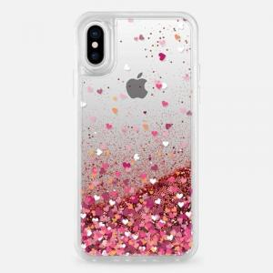 Casetify Glitter Case Rose Gold for iPhone Xs Max