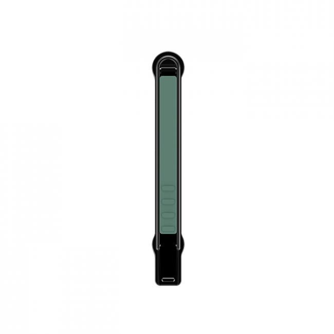 SleekStrip Matte Black Base Phone Stand and Grip (Green)