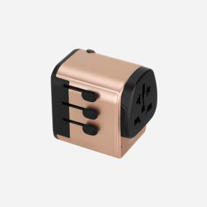 MOMAX 1-World with Type-C PD + 3 USB Ports AC Travel Adapter (Gold)