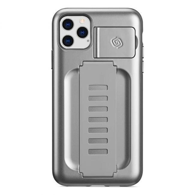 Grip2u Boost Case with Kickstand for iPhone 11 Pro Max (Metallic Silver)