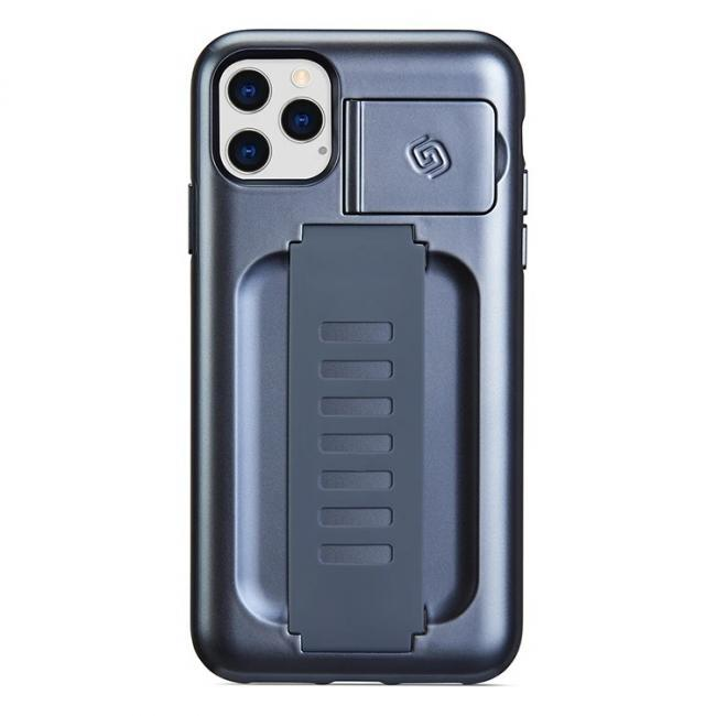 Grip2u Boost Case with Kickstand for iPhone 11 Pro Max (Metallic Blue)