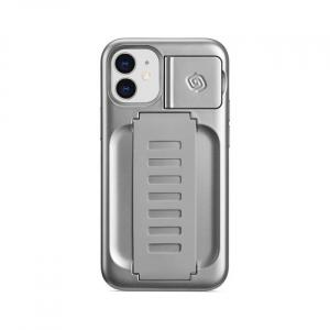 Grip2u Boost Case with Kickstand for iPhone 12 mini (Metallic Silver)