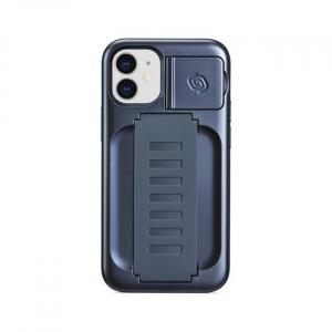 Grip2u Boost Case with Kickstand for iPhone 12 mini (Metallic Blue)