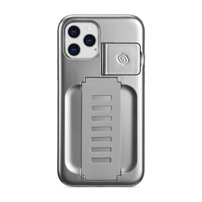 Grip2u Boost Case with Kickstand for iPhone 12/12 Pro (Metallic Silver)