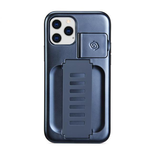 Grip2u Boost Case with Kickstand for iPhone 12/12 Pro (Metallic Blue)
