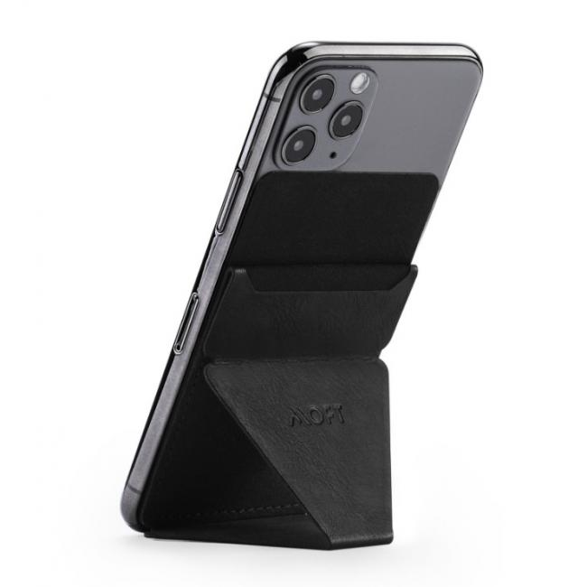 MOFT Phone Stand With Card Holder NIGHT BLACK