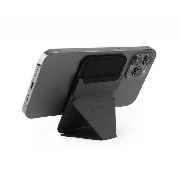 MOFT Snap- on Phone Stand & Wallet NIGHT BLACK