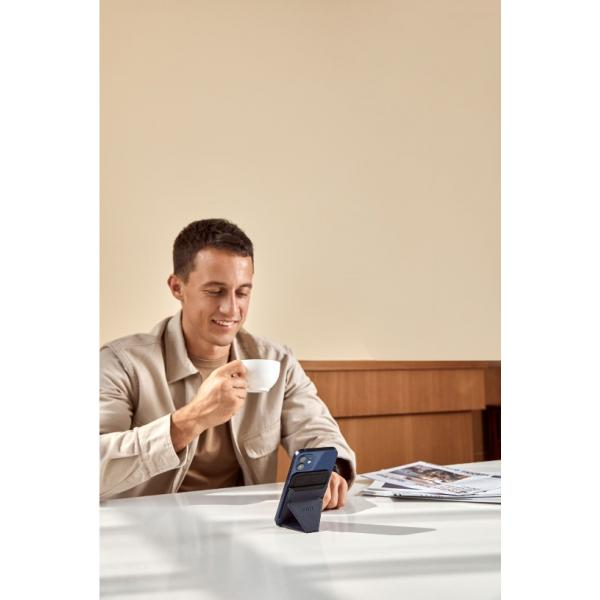 MOFT Snap- on Phone Stand & Wallet OXFORD BLUE