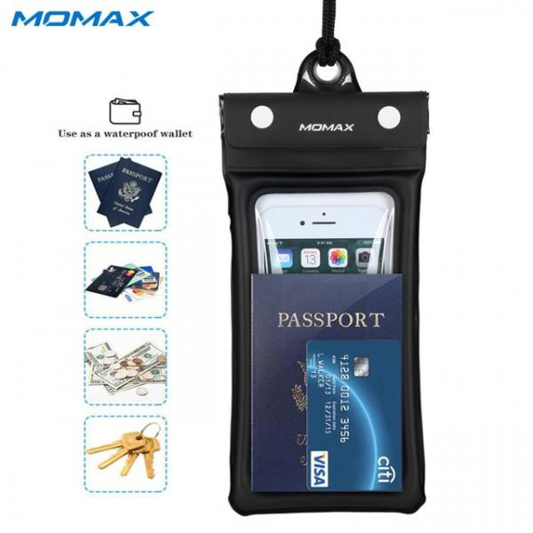 MOMAX Air Pouch Floating Water Proof Pouch (Black) #4894222050013*