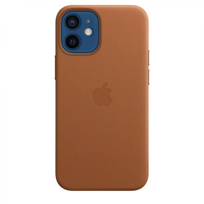 Apple iPhone 12 Mini Leather Case -Brown