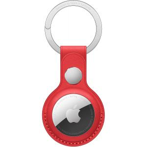 Apple Airtag Leather Key Ring -Red #194252467565*