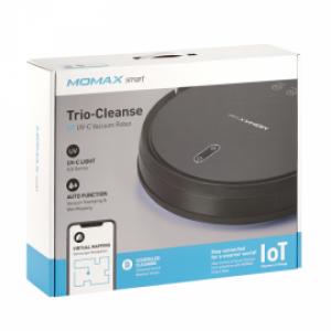 Momax Trio-Cleanse IoT UV-C Vacuum Robot Black #4894222063037*